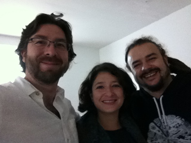 Netanel Miles-Yépez, Sarah Leila Manolson, and Adam Bucko hanging-out at the Abode of the Message.