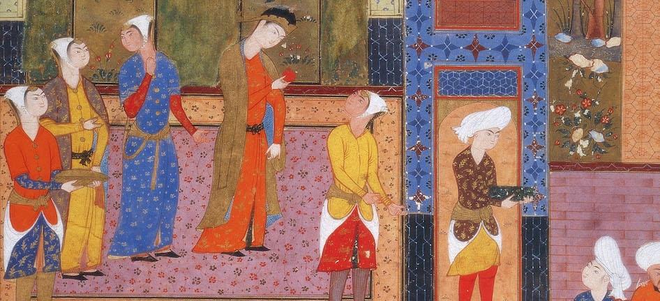 Image from the Peck Shahnamah. 16th century, Shiraz. Princeton University Library.