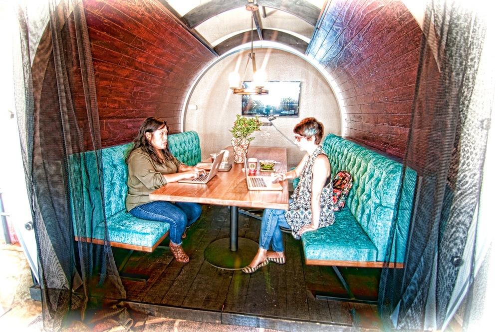 GRAFFITI CONFERENCE TUBE (Inside Sojourn Lounge)