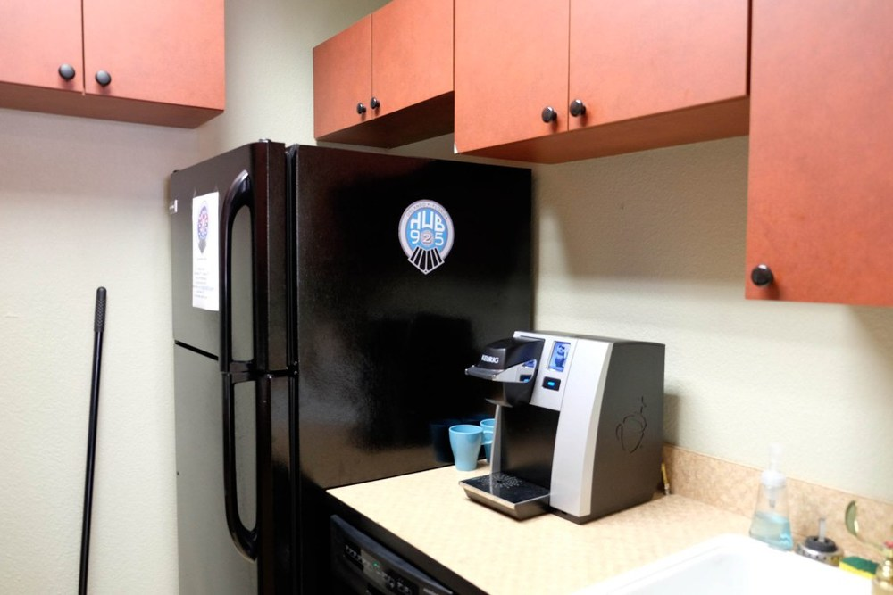 Breakroom with Refrigerator, Keurig, Dishwasher