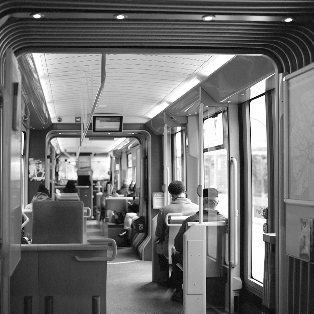 15.03.16 in the line 13 tram to Stockerstrasse , 2016  archival photographic print, 32 x 32 cm