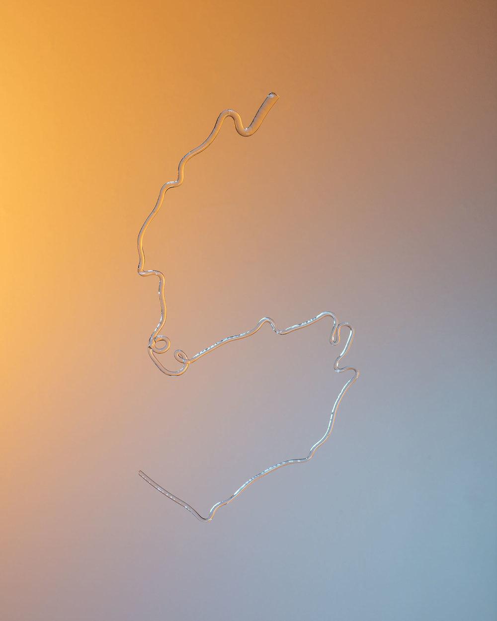 """Glass Drawing X , 2018, archival pigment inkjet print  24"""" x 30"""""""