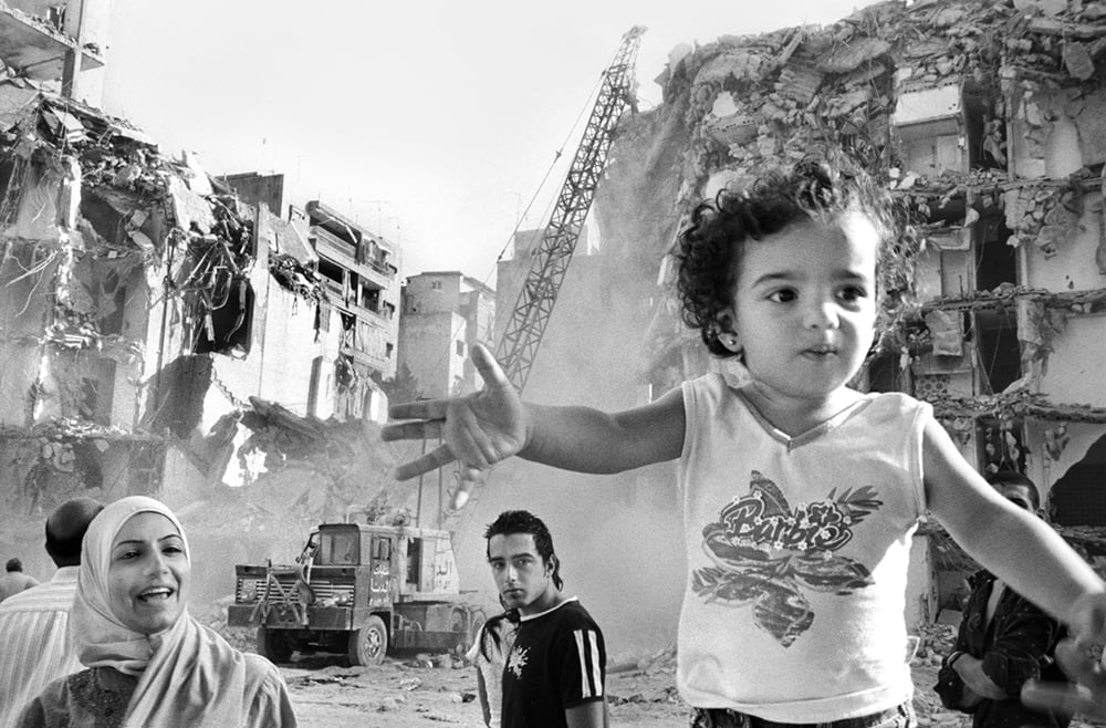 One of my photos - an early one, Barbie Girl Beirut, Lebanon 2006, as it says so much about Lebanon for me and it inspire me in the resilience of people and that little girl looking forward and rising about the destruction.