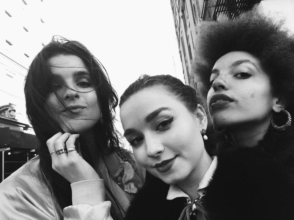 Three of seven Aries: Kerrin, Anikó, Rhianna.