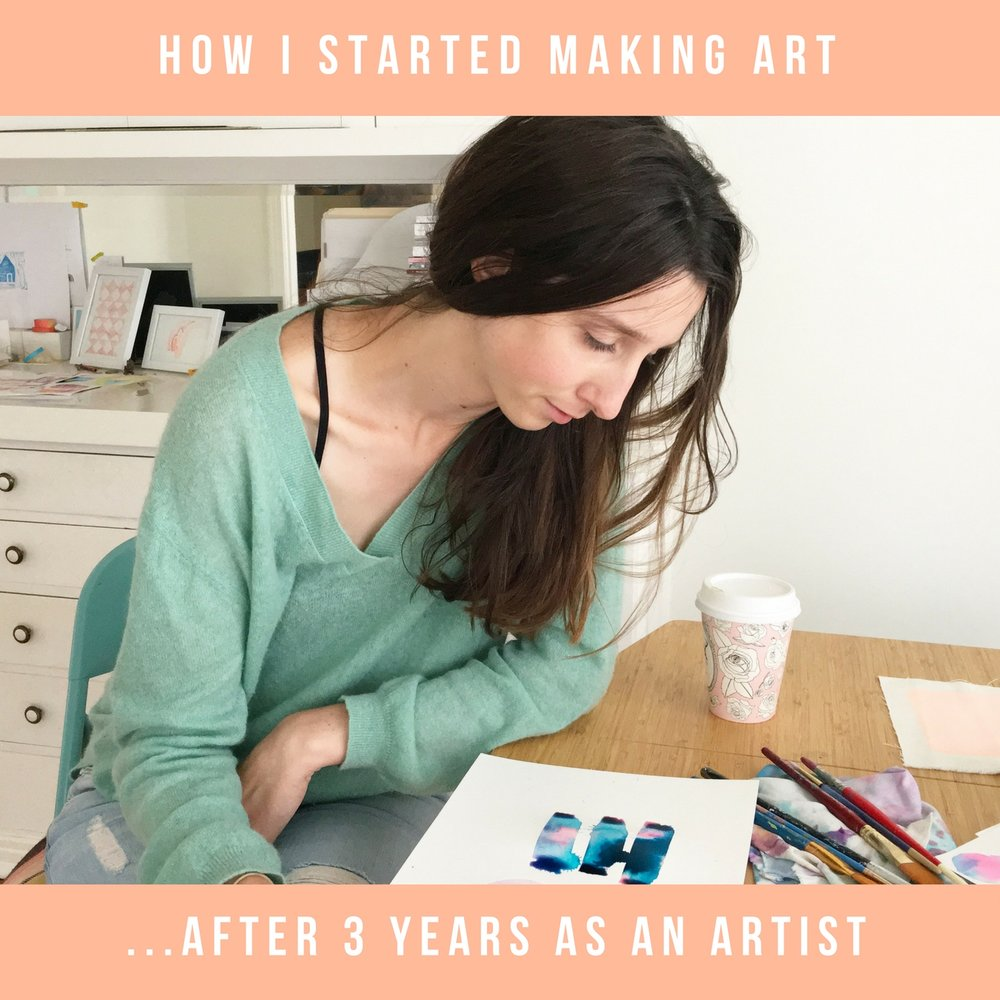 Emily Keating Snyder Blog - how I started making art ...after 3 years as an artist