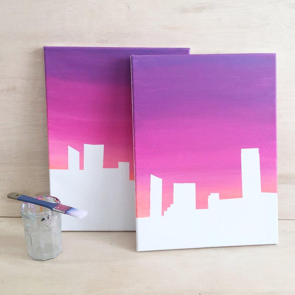 gradient sky painting