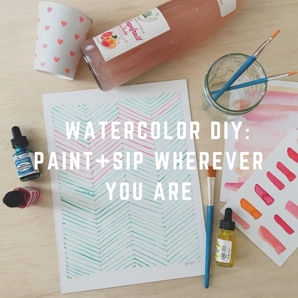 paint and sip watercolor