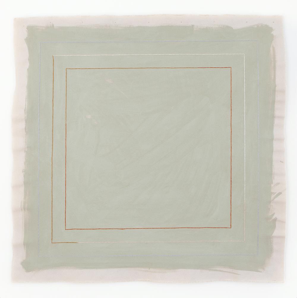 minimalist sage green abstract art print