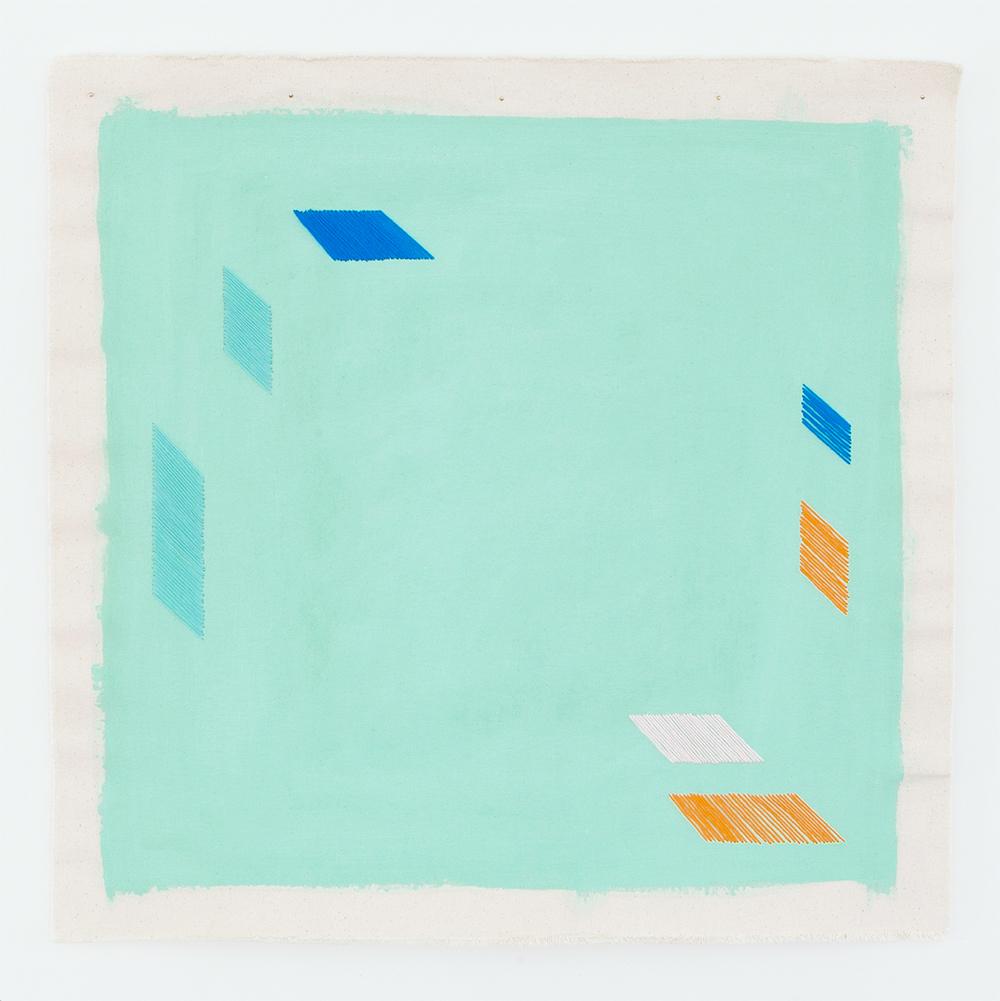 Tiffany blue abstract art print