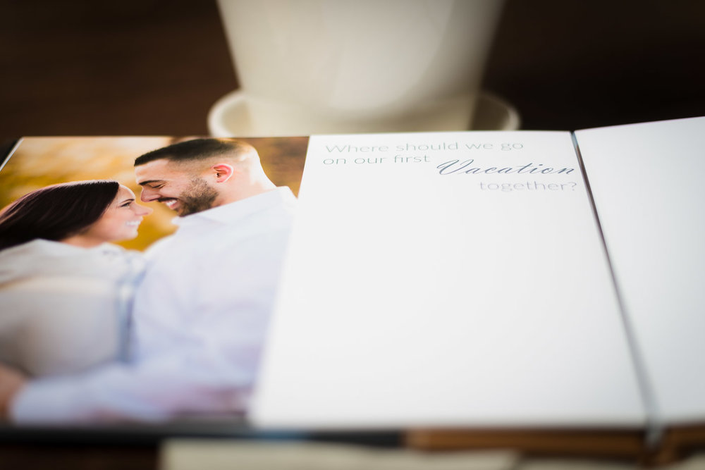 Guest Sign In Album with Engagement Photos