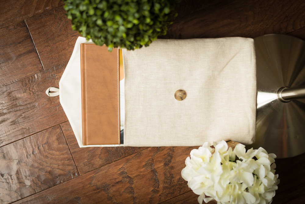 Guest Sign In Album with Fabric Storage Sleeve