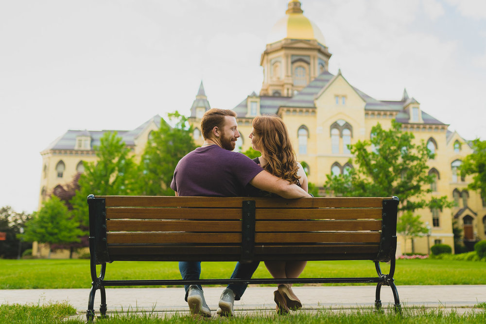 Golden Dome Engagement Picture