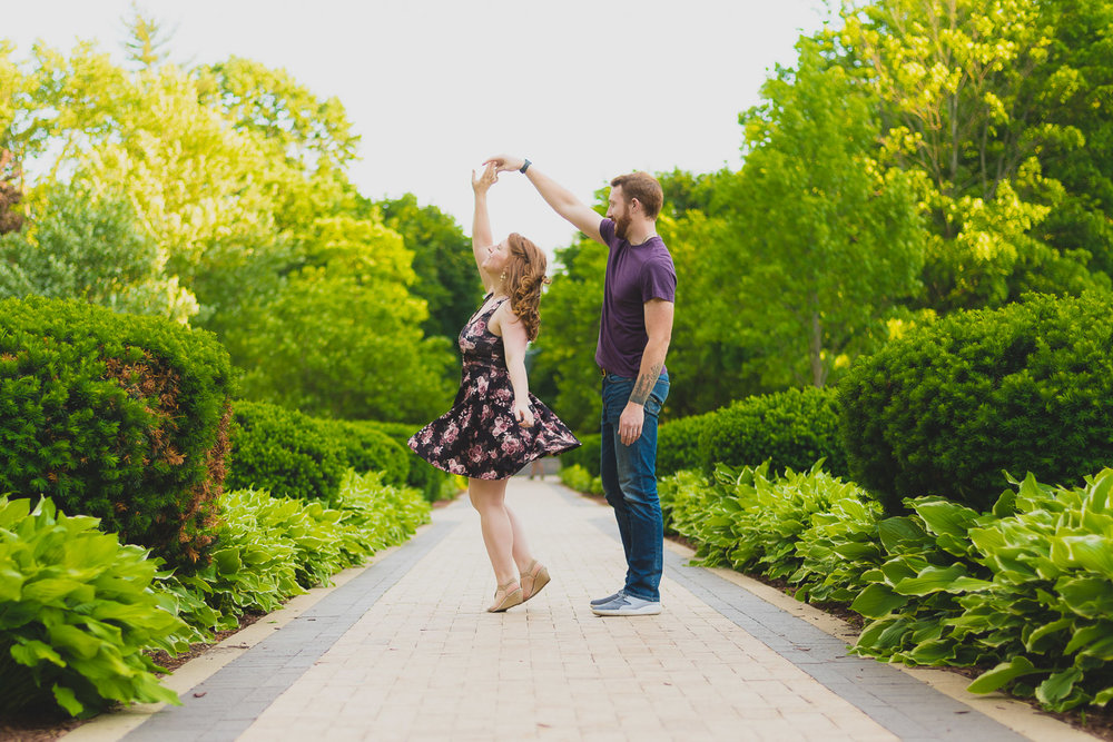 Dancing Engagement Photo