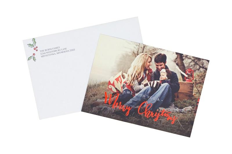 Foil Family Christmas Card