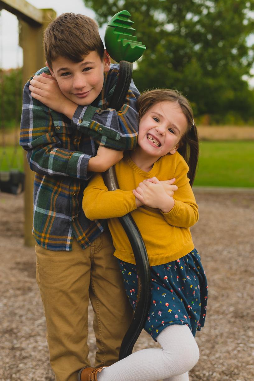 Family Fun Photos in Park