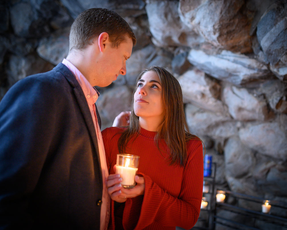 Faith in their relationship with God at the grotto on Notre Dame
