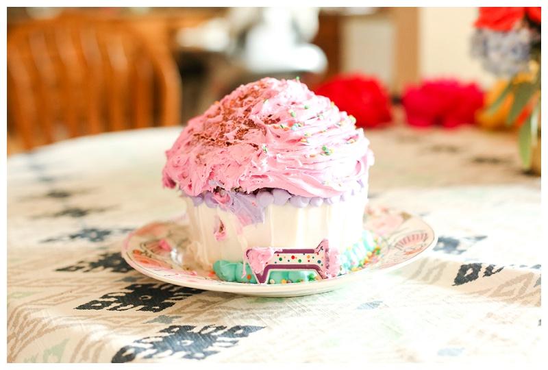Wilton Giant Cupcake | Cake Smash Session | Marietta Child Photographer