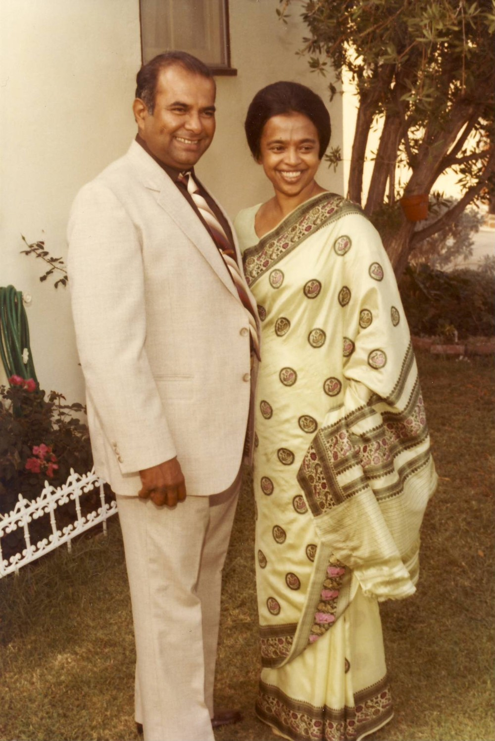 Alex and Indranee at my aunt's wedding (25 years of marriage. Circa 1980)