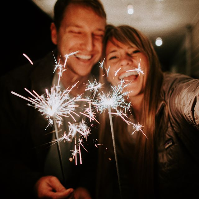 Um we are old and already used our sparklers for the night 🤷🏼‍♀️ I WAS JUST SO EXCITED. I'm excited for 2018. Really I am. But 2017 - A year I could have never seen coming - a year that challenged me, strengthened me, and pushed me to my limit. A year that showed God's love and mercy and greatness to no end. This year I grew closer to Jesus than I ever knew possible. This year I began to truly know what it means to fully trust what you can't control. It's been a tough one,  but I think the greatest part is that I loved 2017. I loved it. Happy New Year to all of you! A sparkler for a sparkly 2018 to come! ✨ (also we've been watching Harry Potter all weekend so far so really, the best way to end 2017)