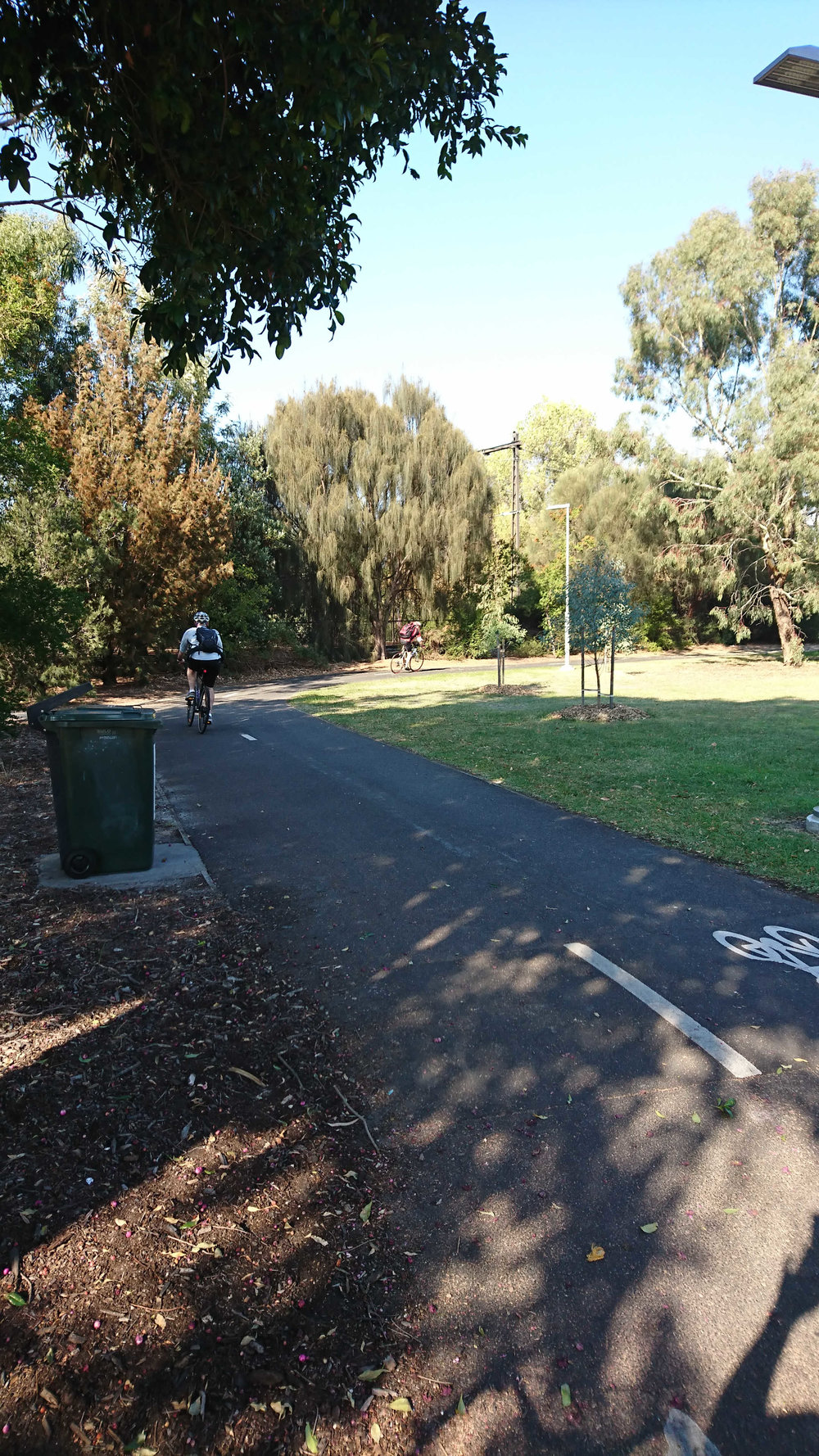 This path is well used by people cycling and walking.