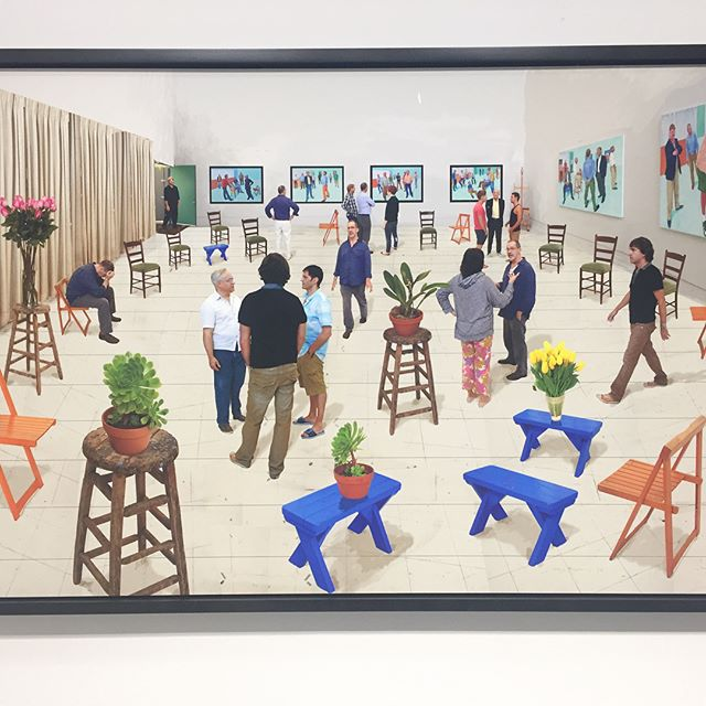 This got me really excited! Looking at David Hocnkey's works revealed so many details, fine work and layers compared to when I saw it on books. #realisreallygood  #davidhockney #lithography #stpi