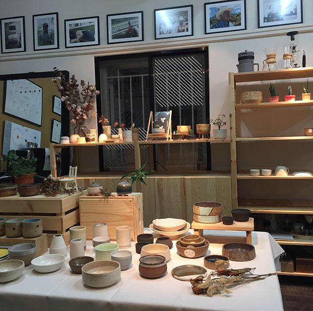All set up for @weekendworker and friends pop-up at @cshhcoffee tomorrow!  30 October 2017, Saturday 12pm - 5pm Level 2 Cupping Room  #weekend #weekendworker #ceramics #pottery #potterysg