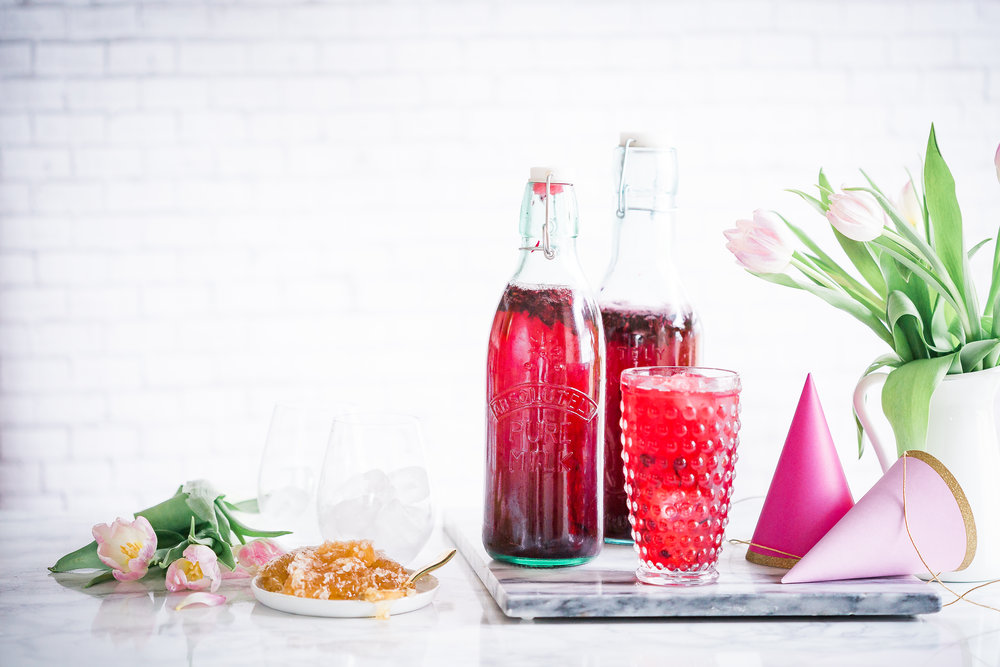 Hibiscus Ginger Lemonade Party Punch (Boozy Option) — Cheeky Kitchen