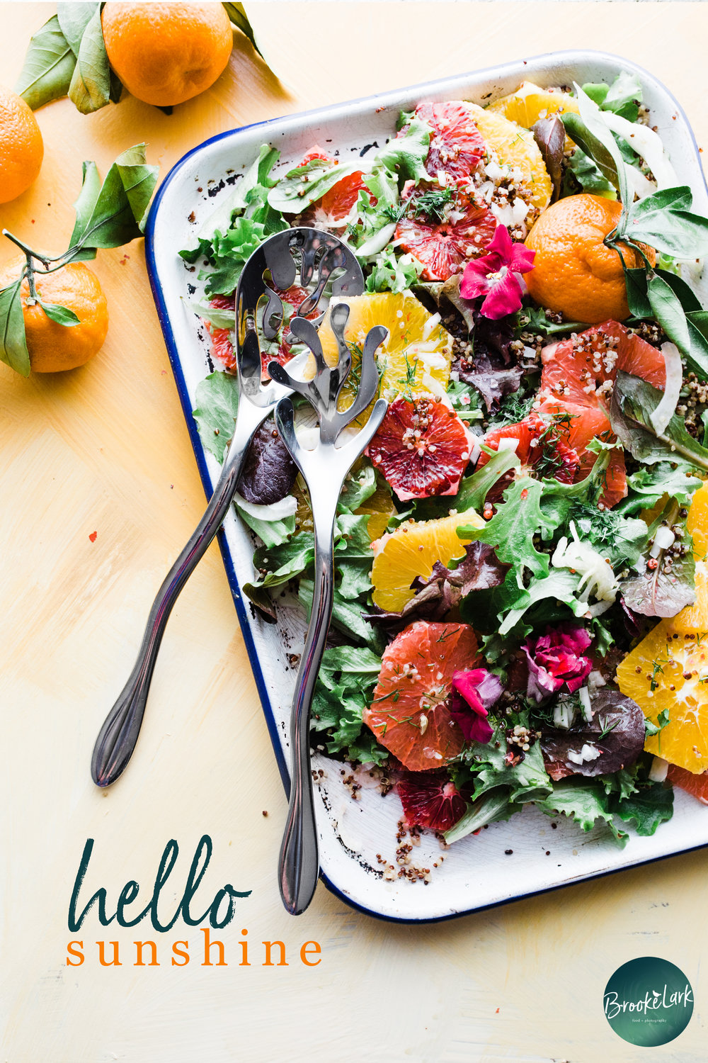 Sunshine Quinoa Citrus Salad (Vegan, Vegetarian, Splendid)  | Beautiful winter citrus is tossed with quinoa and tangy spring greens in this simple salad, which practically makes it's own vinaigrette! The flavors here are simple and splendid. A perfect dish for lazy lunches. A great way to enjoy more real food, in a naturally delicious way.