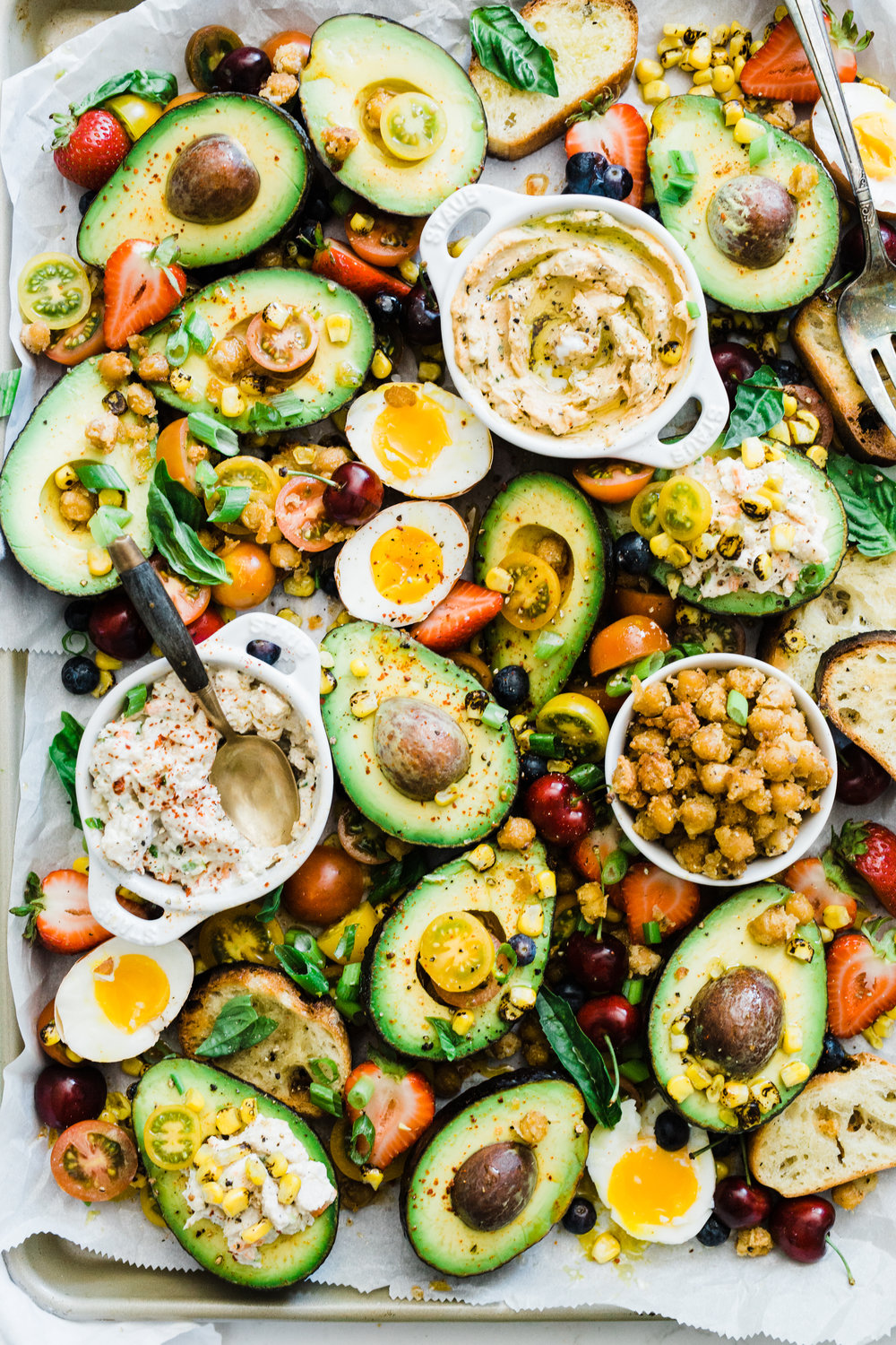 How to Cook Like a Food Stylist: Avocado Boat Snackboard Dinner