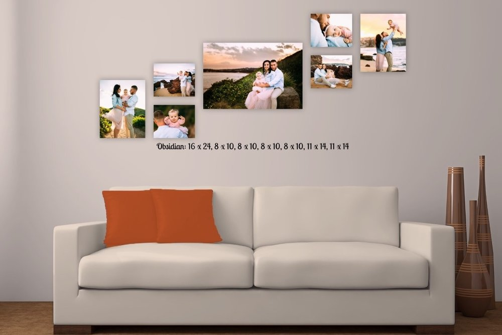 Wall art packages starts from $450 - We not just do a wall design, we make your home more homey. Our Special program allows to see how your images will look at your home. It's absolutely amazing feature, helps to make a decizion about composition, sizes and even color of the pictures.