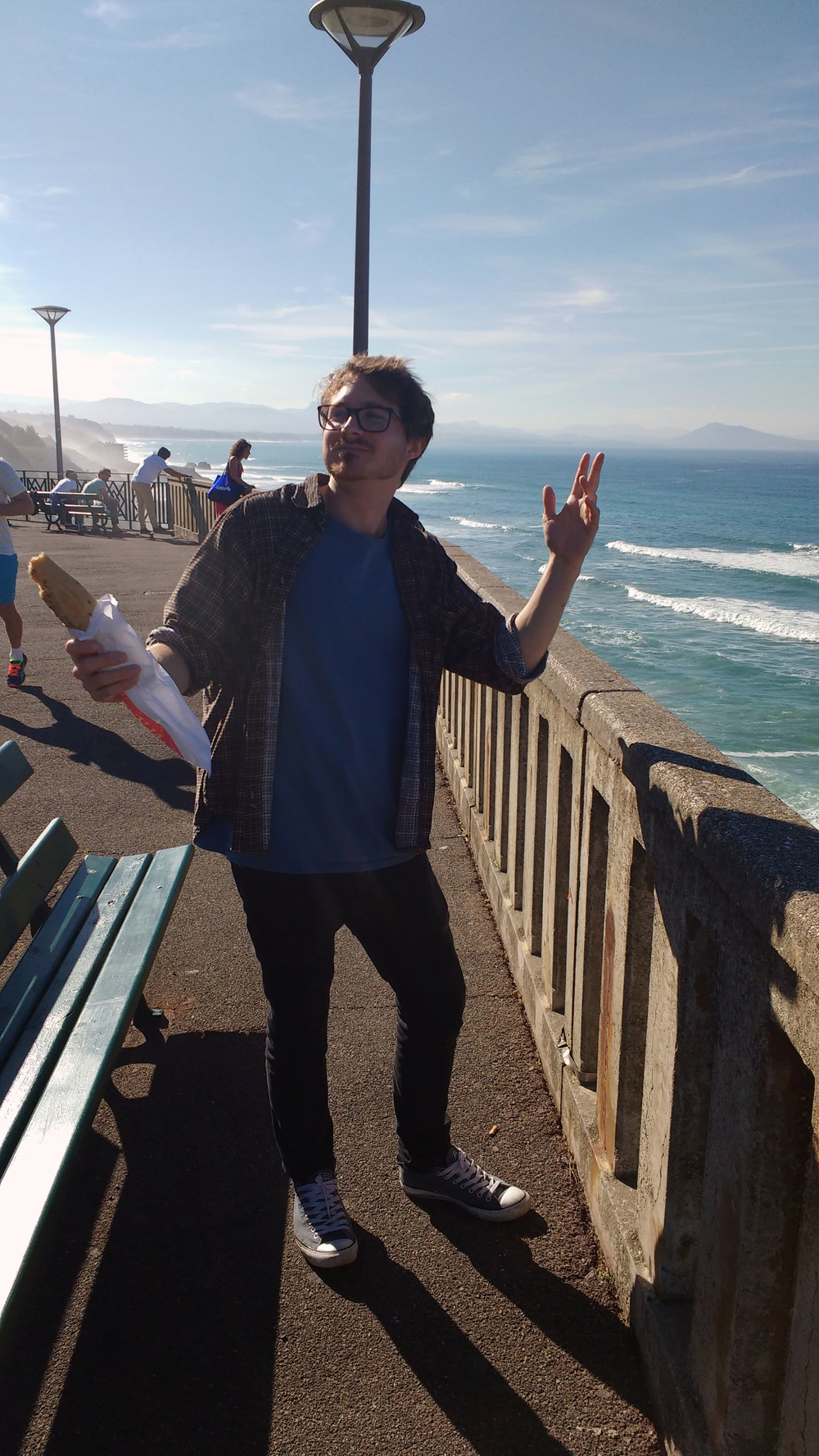 Thomas with Baguette, Biarritz