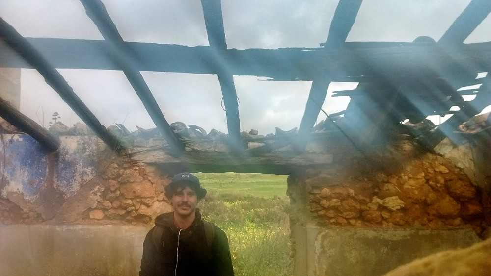 Me in abandoned house, Lagos, Porgual