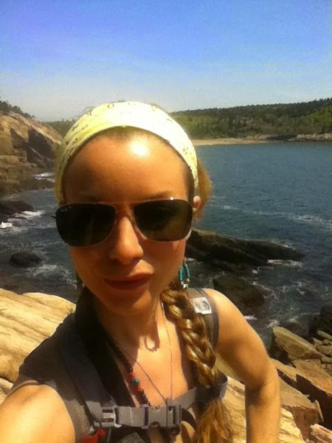 Getting my sunshine on - cliffs of Mt. Desert Island, Bar Harbor, ME