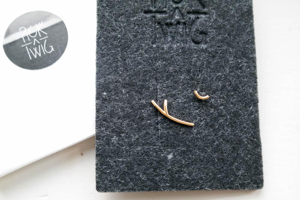 Pick A Twig minimalist gold earrings jewellery