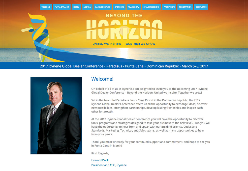 Registration Site Homepage