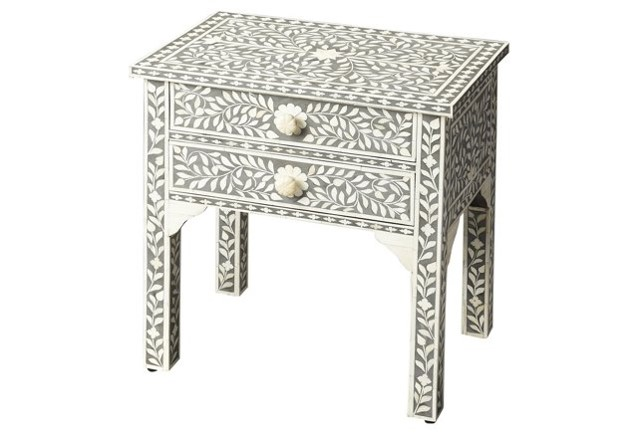 Bone Inlay Nightstand - One Kings Lane