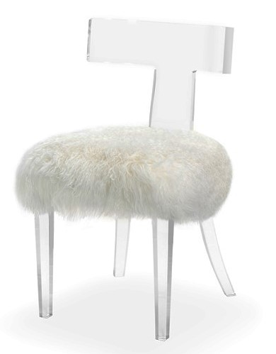 Vanity Chari from Interlude Home - Available through the Guest House Studio with or without fur.