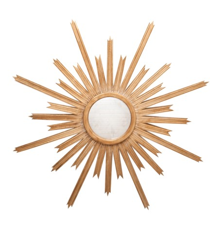 Gold Sunburst Mirror from Made Goods - available through The Guest House Studio