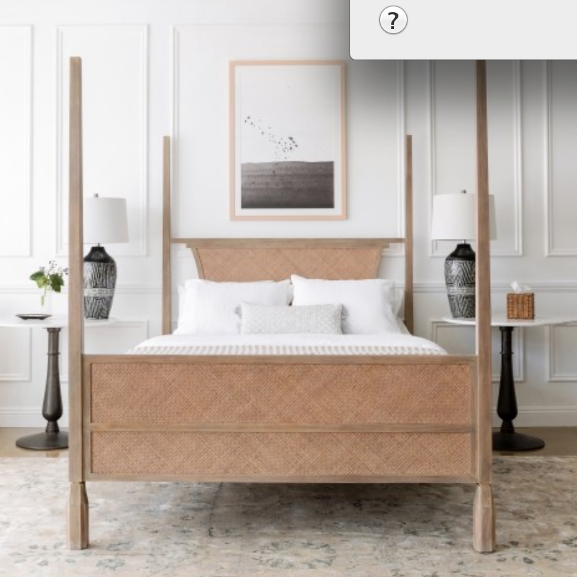 A Bed - This is a piece that will continue to serve you well in your home if you choose one of high quality.  We love this timeless bed frame by Lulu and Georgia because it can transition as a classic through any design trends. Find it here for $2,993.