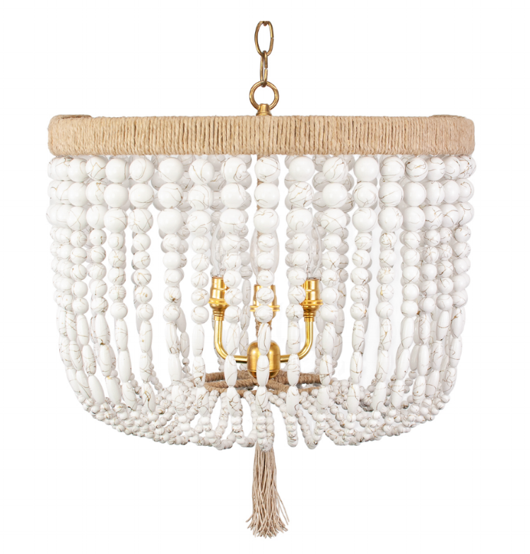 Splurge - If you're looking for the iconic beaded chandelier and are willing to splurge to get exactly what you want, then look no further than Ro Sham Beaux.  Constructed right here in Charleston, you can pretty much everything, from the bead color and hardware finish, to even the size. Find this item here for $1,345.(**Hint: to save on this item, check out their outlet for gently used items or mistake pieces.)