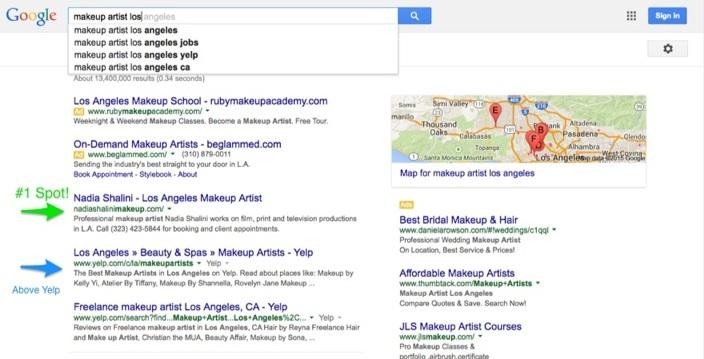 #1 in Google SEO Nadia Shalini