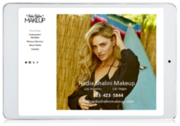 Makeup Artist local marketing example