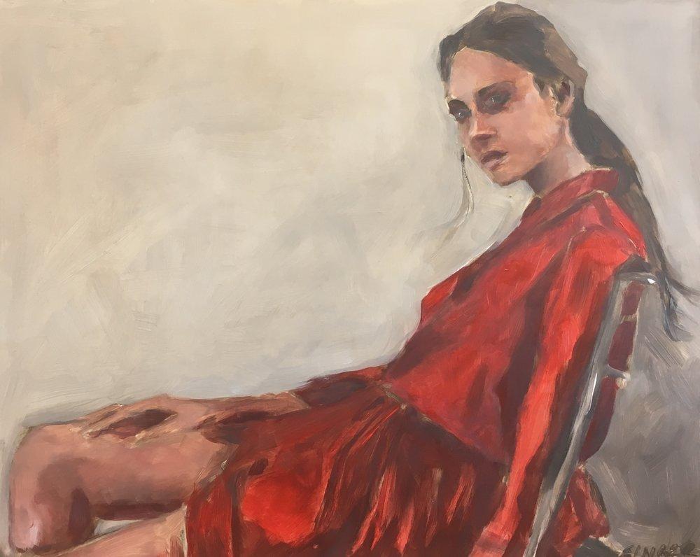 Valeria in Red