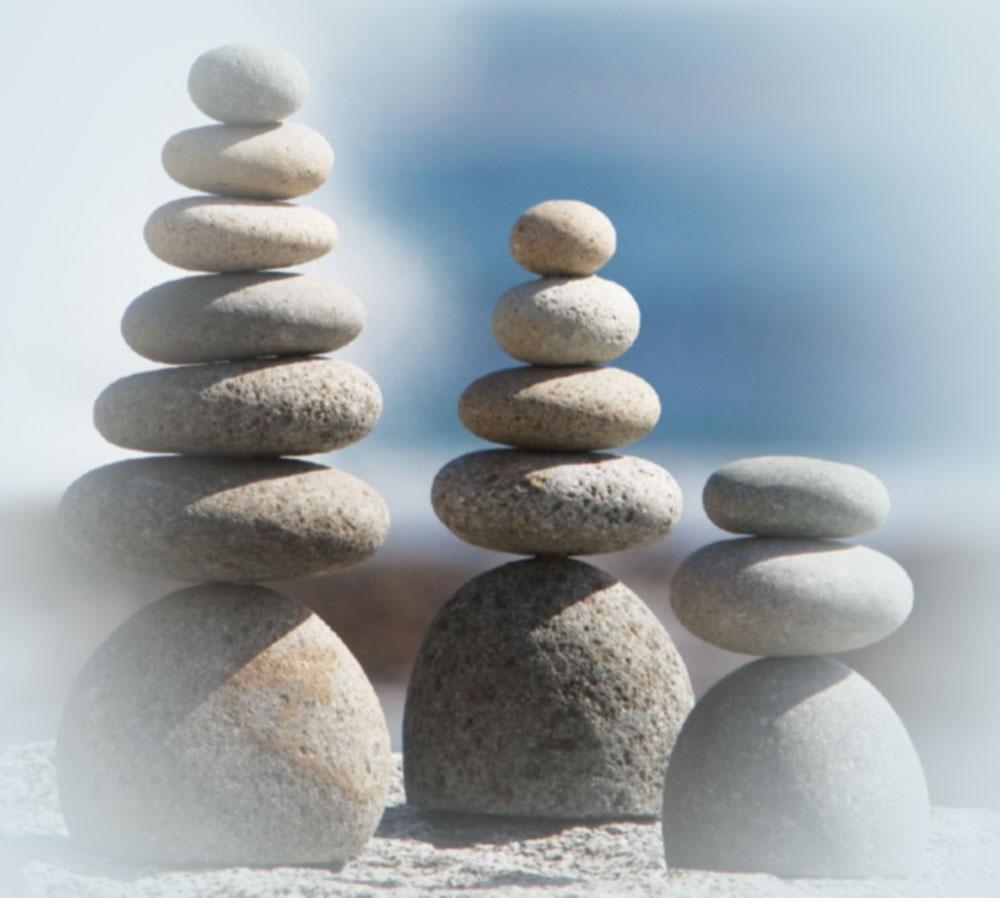 zen stone cairn
