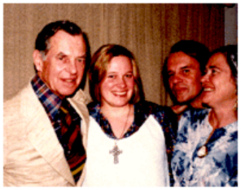 Rebecca in her teens with family friend, Joseph Campbell.