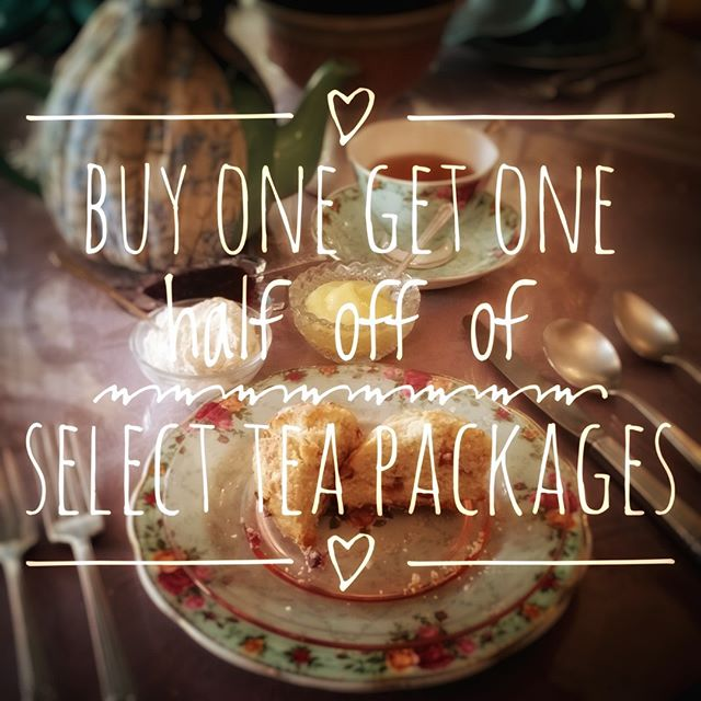 Cold weather is tea weather!! Now through the end of February we are pleased to offer buy one get of half off of our Grand Duchess, Queen's and Royal High tea packages to help warm you up! Give us a call to make your reservation! #twoatea #teagrams #teatime #tealovers #afternoontea #tealove #scones