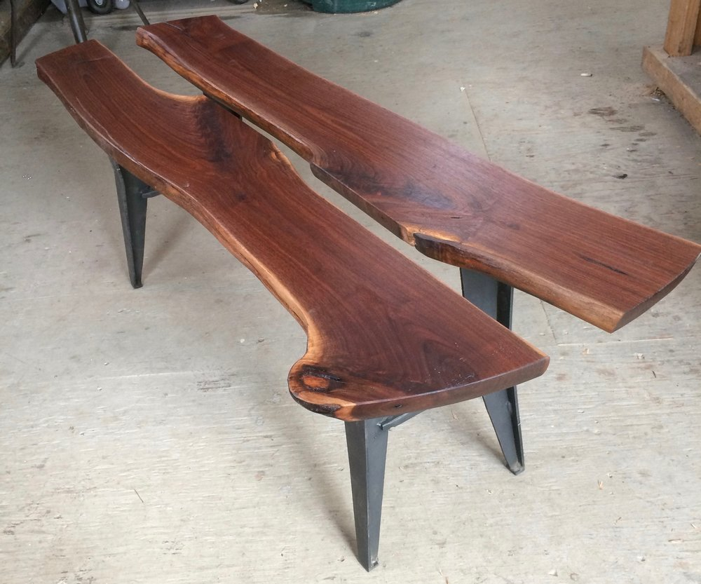 Walnut & Steel Coffee Table
