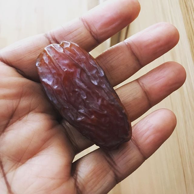 Ritual . This is a medjool date I eat it in remembrance that not all sweet good things come in a pretty package . That beauty is truly in the eye of the beholder .Don't despair. Save your shekels and share your time and love .