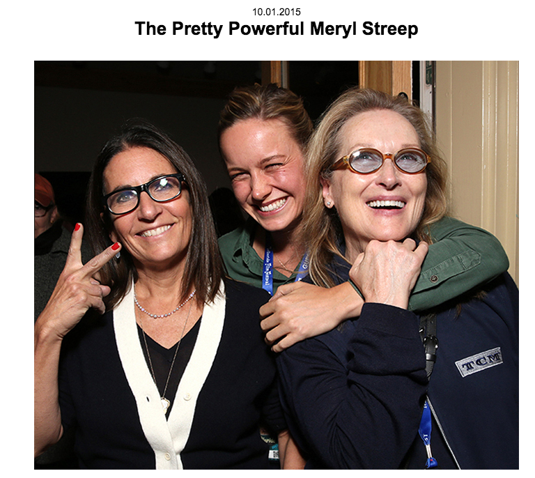 """The Pretty Powerful Meryl Streep"" for Everything Bobbi"