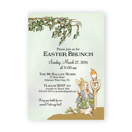 peter rabbit easter brunch invitation magnolia street paperpeter